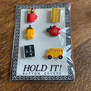 TEACHER BUTTON COVERS VINTAGE NEW (N)